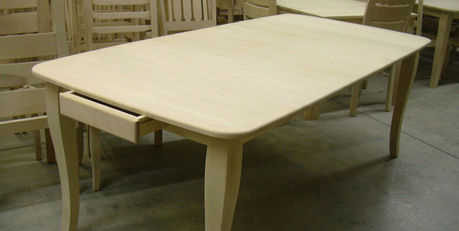 Liquidation table bois for Meuble quebecois contemporain